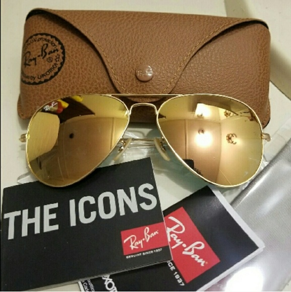3ac510ac2 Ray-Ban Accessories   Ray Ban Aviator Sunglasses Rose Pink Gold New ...